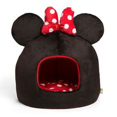Disney Minnie Mouse Dome Pet Bed - DIS-MWH-MIN-BLK