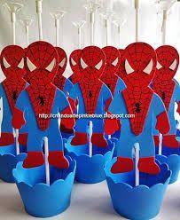 Resultado de imagen para centro de mesa do homem aranha em eva