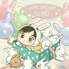 ❤ HAPPY SUHO DAY ❤ { 920522 - 180522 } Love you so much, Jun Myeonie ! We wish you a happy birthday. Hope that you will have more happiness, success in work and life ❤❤❤ You are forever Our beautiful Leader ⭐ Kpop Exo, Chanyeol Baekhyun, Exo Anime, Anime Chibi, Kpop Fanart, Exo Birthdays, Exo Cartoon, Exo Stickers, Exo 12