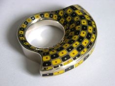GRZEGORZ BŁAŻKO, Poland: silver and acrylic ring