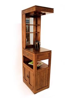 Indian Bar Furniture - Tall sleek Cabinet with Mirror Built In Cabinets, Wine Cabinets, Modern Cabinets, Tall Bar Cabinet, Home Bar Cabinet, Shoe Cabinet, Corner Wine Bar, Modern Home Bar, Contemporary Bar