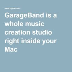GarageBand is a whole music creation studio right inside your Mac #musik #iOS