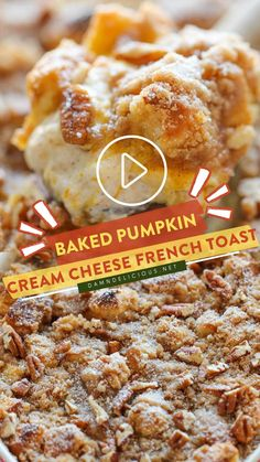 Brunch Dishes, Breakfast Dishes, Brunch Recipes, Breakfast Recipes, Breakfast Ideas, Baked Pumpkin, Pumpkin Recipes, Fall Recipes, Damn Delicious Recipes