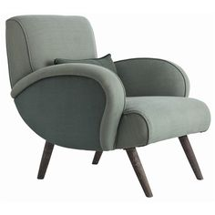 Perfect for my sun/reading room ... if I could only get 2 (and win the lottery) ... Trilby Celadon Linen/Wood Chair