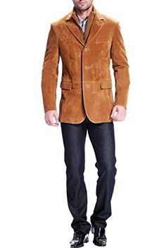Just found this Mens Leather Blazer - Presidential Suede Blazer ...