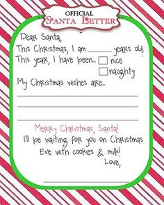 Letter to Santa - printable #halloween