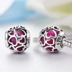 d411c6000 US $21.65 |Aliexpress.com : Buy Hot sale 925 Sterling Silver Cherry color  of love Charm Fits Pandora Bracelet from Reliable pandora bracelet charm  silver ...