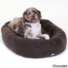 "52"" Faux Suede Extra Large Dog Bed 