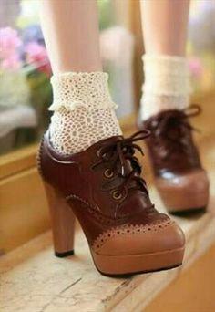 Vintage shoes estilo años '20 pero muy cómodos con plataforma