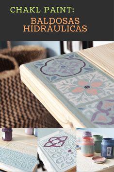 Decora tus muebles con un diseño de baldosas hidráulicas usando chalk paint y una plantilla de Pinturas La Pajarita Fácil, rápido y molón! Toda la info:http://inventandobaldosasamarillas.es/decorar-un-escritorio-de-madera-de-ikea/ - #decoracion #homedecor #