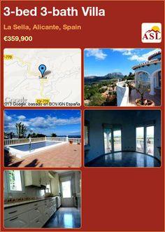 3-bed 3-bath Villa in La Sella, Alicante, Spain ►€359,900 #PropertyForSaleInSpain