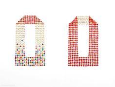 Karola Torkos – neckpiece, 2012, plastic, textile thread