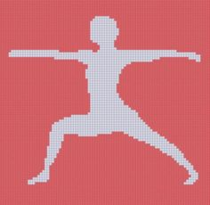 Yoga 4 Cross Stitch Pattern