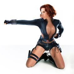 Skimpy Black Widow by GruesomeFlash on DeviantArt