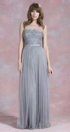 Grey Bridesmaid Dresses: This Kelsey Rose design would look lovely at a spring wedding – the soft grey shade will work with a pastel colour palette and the tulle skirt and lace bodice would work perfectly with a vintage inspired wedding theme. Rose Bridesmaid Dresses, Grey Bridesmaids, Affordable Wedding Dresses, Wedding Dresses For Girls, Bridal Dresses, Girls Dresses, Bridesmaid Ideas, Maternity Dresses, Kelsey Rose