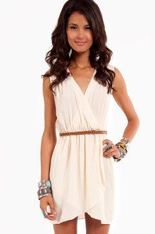Wrap Me Up Dress in Cream