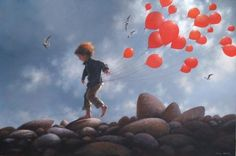 Keeping your feet on the ground - Jimmy Lawlor Jimmy Lawlor, Illustrations, Illustration Art, Cute Monsters, Japanese Artists, Portraits, Surreal Art, Beach Art, Figurative Art