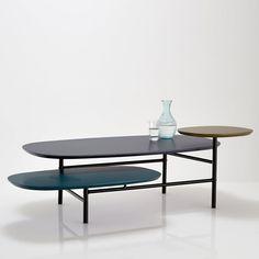 Table basse 3 plateaux, piétement tube d'acier, cr Sam Baron. | La Redoute