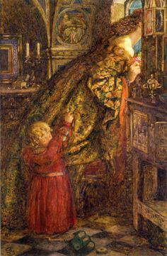 """Eleanor Fortescue-Brickdale, """"I did no more while my Heart was Warm"""", 1908, ink, watercolor and bodycolor, Ashmolean Museum, Oxford, UK"""