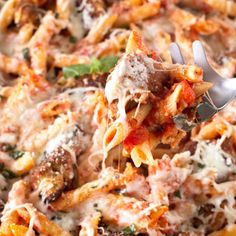 This Chicken Parmesan Pasta Skillet is an easy, flavorful weeknight take on a classic recipe.