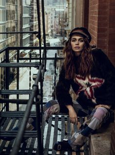 in spirit rock 'n' roll: iulia cirstea by michael groeger for elle romania may 2015 | visual optimism; fashion editorials, shows, campaigns & more!