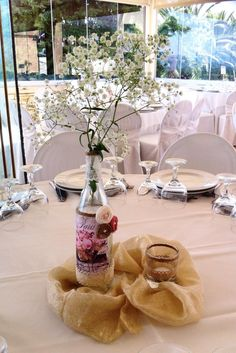 handmade decoration for wedding table