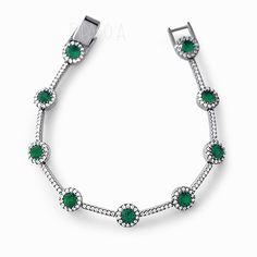 Pulseira Riviera Semi Joia com Zirconias Esmeralda e Incolores, Folheada  Com Rodio Negro  emerald  semijoias  acessorios  bijoux  moda  looks   tendência   ... b76b735cb7