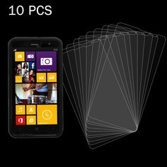 [$5.39] 10 PCS 0.26mm 9H+ Surface Hardness 2.5D Explosion-proof Tempered Glass Film for Nokia Lumia X