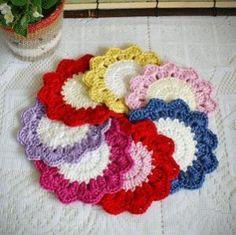 Free sunshine #coaster #pattern #crochet by doyte
