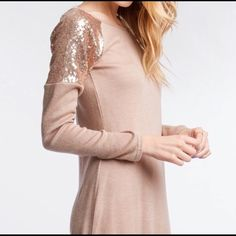 Sequin Sweater Dress Size Feel like M, cotton Ya Los Angeles Dresses Midi