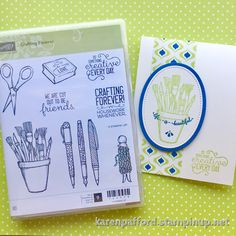 Do something creative every day! Sneak peek of a must have stamp set from the upcoming new Annual catalog. Attendees to the CentreStage event were treated to this set - Crafting Forever. Thank you Stampin' Up! I paired it with some new paper from the Eastern Palace suite and new In Color - Lemon Lime Twist! #stampinup #craftingforever #centrestage #silverelite #easternpalace #paper #lemonlimetwist #papercrafting #sneakpeek #kmpstampstudio