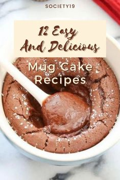 12 Easy and Delicious Mug Cake Recipes Food Goals, Cake Recipes, Good Food, Mugs, Easy, Easy Cake Recipes, Cups, Baking Recipes, Healthy Meals