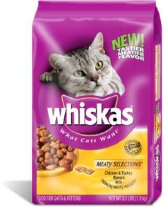 Whiskas Meaty Selections Dry Cat Food - 3 lb bag ** Don& get left behind, see this great cat product : Cat food Best Cat Food, Dry Cat Food, Pet Food, What Cat, Cat Treats, Pet Care, Dog Food Recipes, Pet Supplies, The Selection