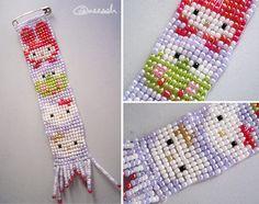 Hello Kitty bead loom project