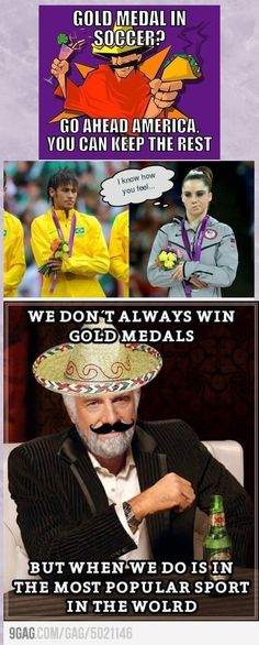 Gold medal in soccer? #Mexico #Olympics #London2012 #Funny xD