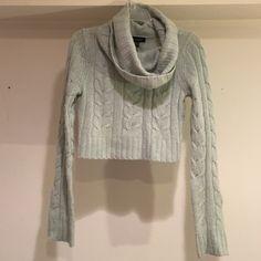 Bebe cowl neck light blue sweater Bebe sweater in need of new home! Minimal use! bebe Sweaters Cowl & Turtlenecks