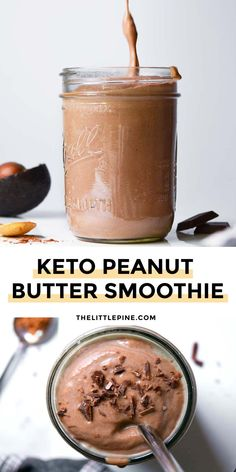 Green Drink Recipes, Yummy Smoothie Recipes, Low Carb Drinks, Low Carb Smoothies, Peanut Butter Smoothie, Low Carb Peanut Butter, Low Carb Vegetarian Recipes, Low Carb Recipes, Healthy Recipes