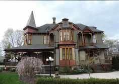 """'after' pic of 1887 queen anne vic in York, PA wish I could get a closer pic of shingles used on side of house from 1-13-2013 - This """"Deteriorated"""" Home Built in 1887 Just Underwent an Unbelievable Renovation"""