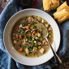 Roasted Chicken, Mushroom and Wild Rice Soup Recipe - Homemaker's Habitat
