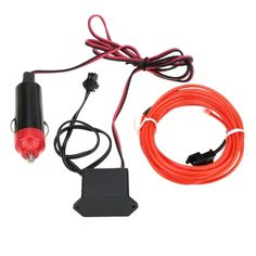 (4.58$)  Watch here  - 3M Flexible Neon Light Glow EL Wire Car Rope with DC12V Car Charger Driver