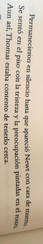 """amo esto, aunq leer q Newt tenía """"cara de muerto"""" nos ayuda precisamente a mi corazón roto."""