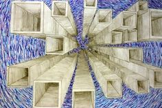 This image makes good use of one point perspective by including a great use of depth.