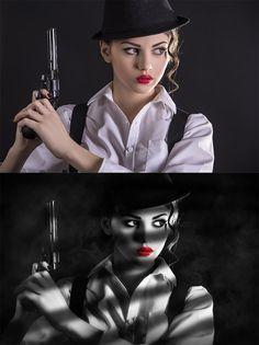 Sin City Effect in Photoshop/Efecto Sin City en Photoshop