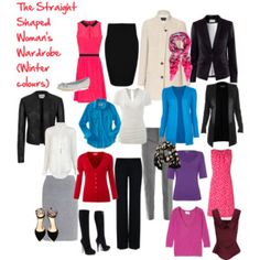 The Straight Shaped Woman's Wardrobe (Winter)