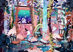 アムレテ論 by rika nagatani Manga Anime, Anime Art, Psychedelic Colors, Aesthetic Desktop Wallpaper, Art Costume, Illustrations And Posters, Art Google, True Colors, Animal Crossing