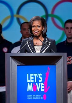 Perfect! I'll link Let's Move to the Olympics. Americans will be forced to hear me talk about healthy living! Go Michelle!!!