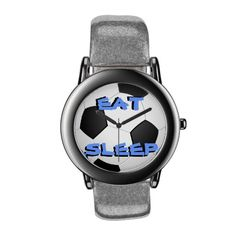 Eat Sleep Soccer Wristwatch #fashion #soccer #eat #sleep #sports #women #men #football #futbol #accessories #watches #watch