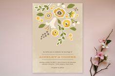 Summer's End Wedding Invitations by Jennifer Wick at minted.com