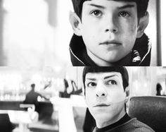 Little Spock and Young Spock - Zachary Quinto and Jacob Kogan