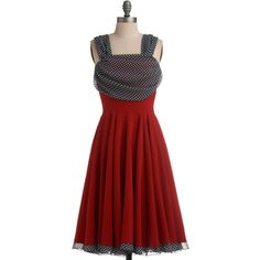 Draped Darling Dress found on Polyvore